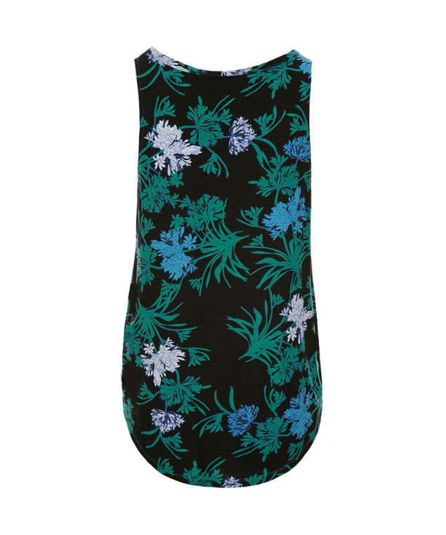 Shirt Tail Tank, Green Pattern, hi-res