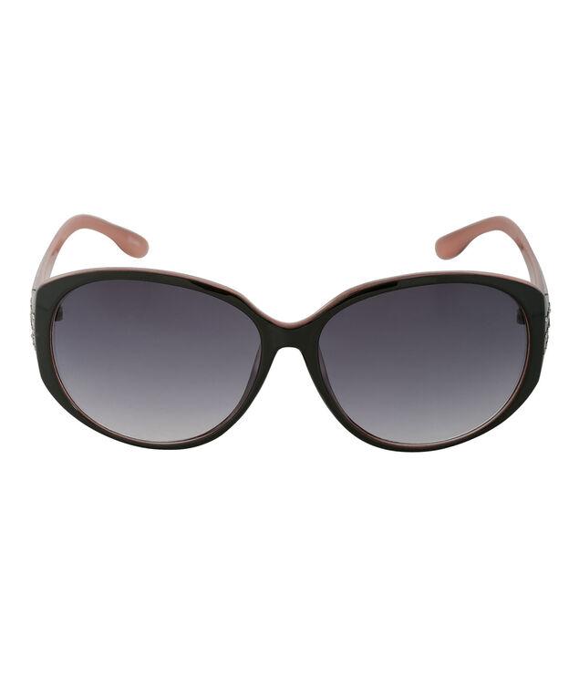 Temple Bling Sunglasses, Black/Pink, hi-res