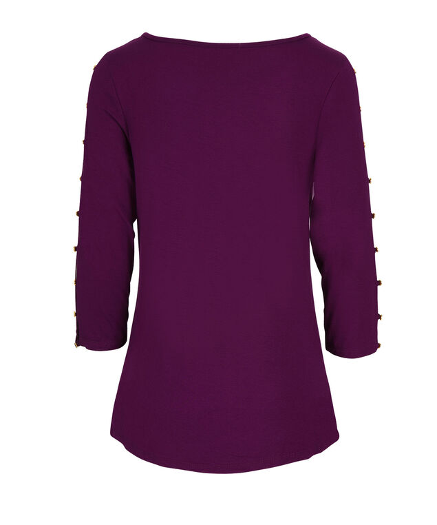 3/4 Cage Sleeve Top, Ultra Purple, hi-res