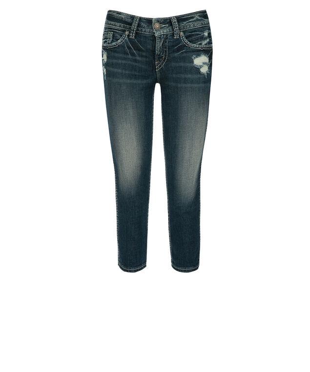 Silver Jeans Co. Suki Distressed Capri, Denim, hi-res