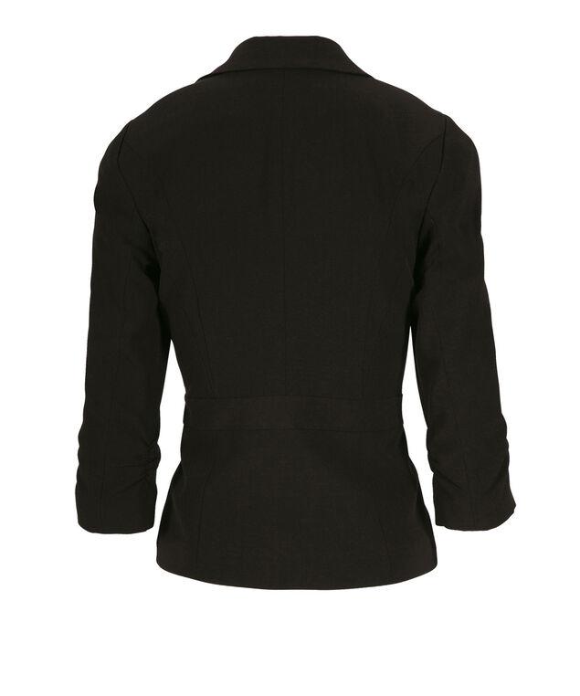 Tri-Blend Ruched Blazer, Black, hi-res