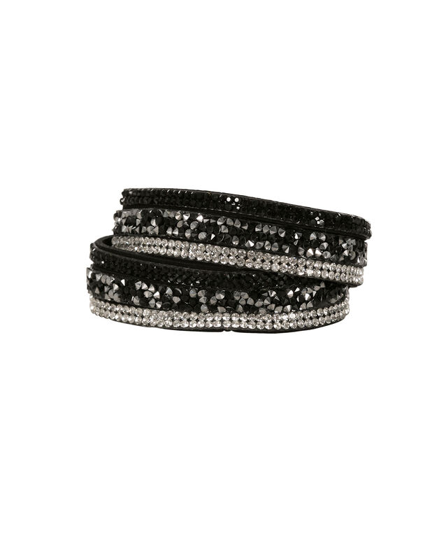 Double Wrap Bracelet, Black, hi-res