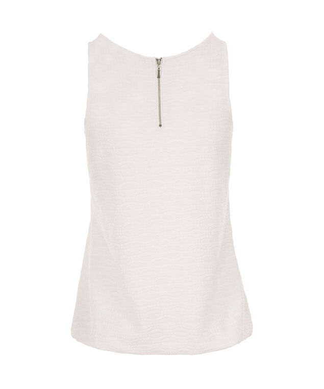 Textured Bubble Tank, True White, hi-res