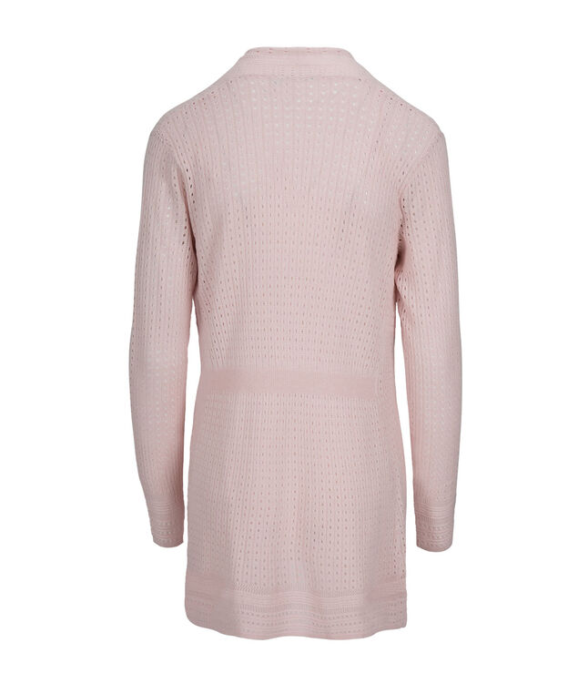Classic Pointelle Cardigan, Misty Pink, hi-res