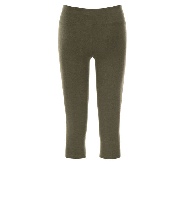 Knit Capri Legging, Olive Melange, hi-res