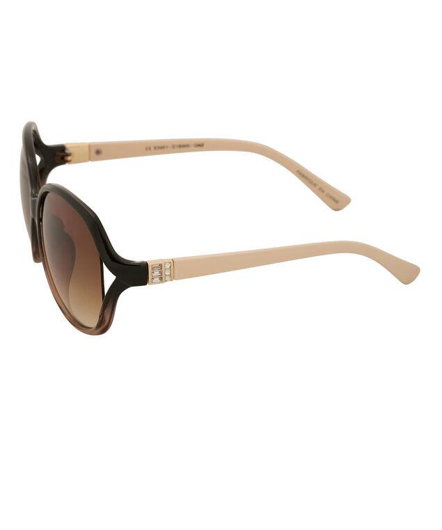 Ombre Frame Sunglasses, Black/Brown/Gold, hi-res