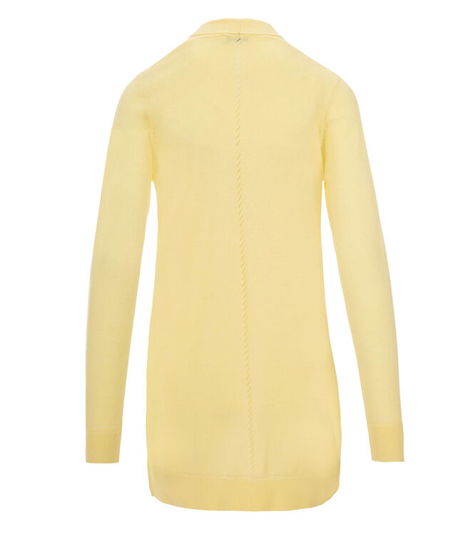 Pointelle Trim Tunic Cardi, Yellow, hi-res