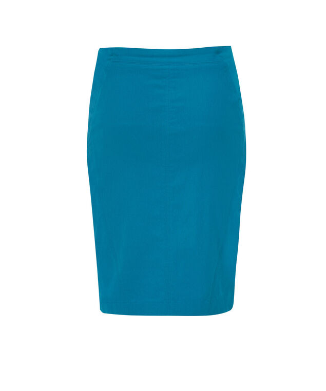 Pull On Pencil Skirt, Turquoise, hi-res