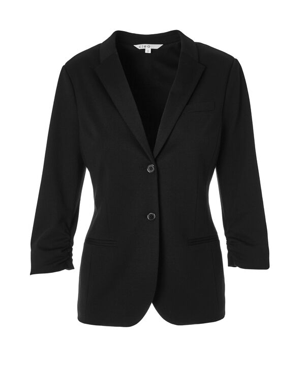 Black Boyfriend Blazer, Black, hi-res