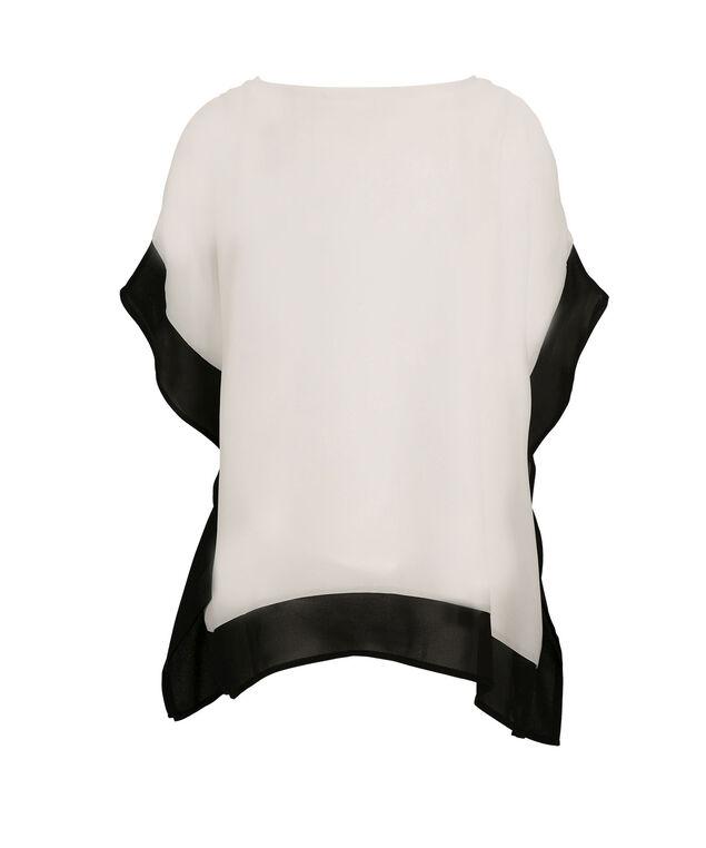 Cold Shoulder Cape, Black/Milkshake, hi-res