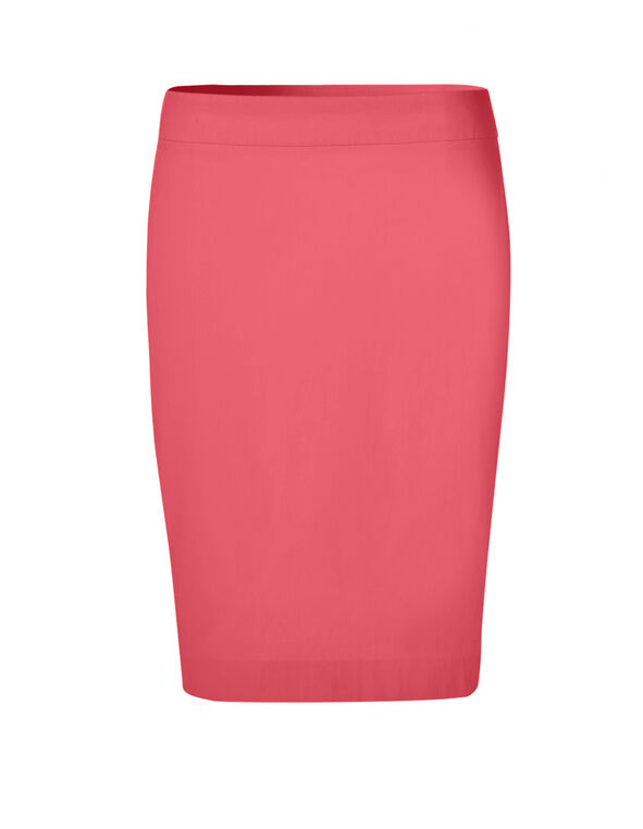 Coral Signature Pencil Skirt, Coral, hi-res