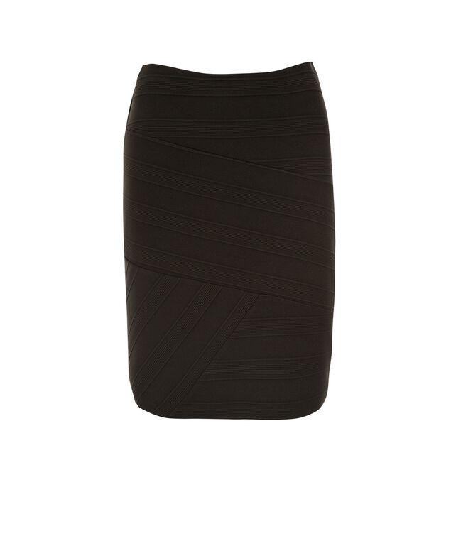 Banded Skirt, Black, hi-res