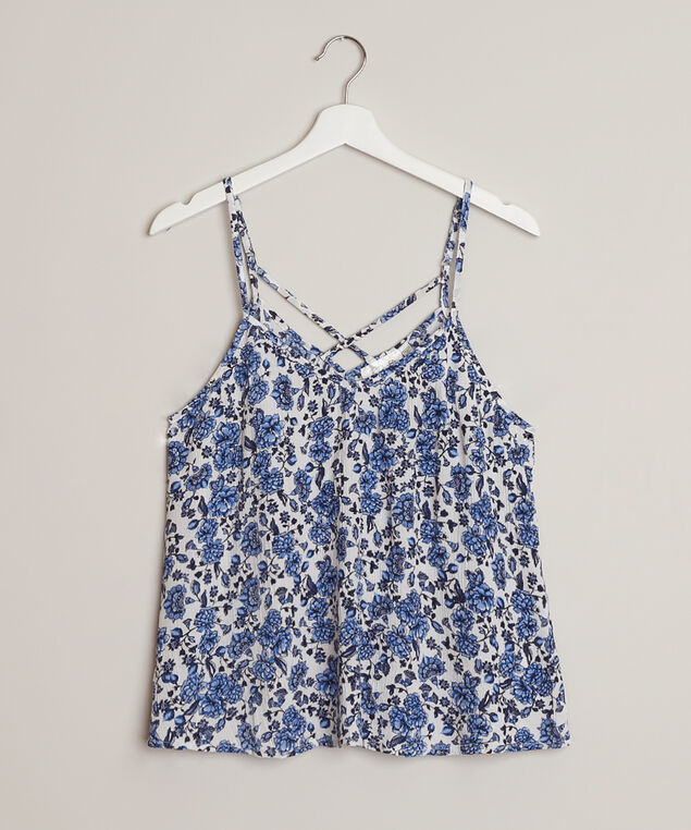 criss cross cami - wb, WHITE/BLUE, hi-res