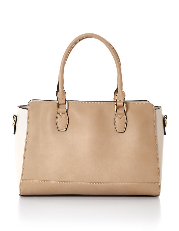 Neutral Colour Block Bag, Neutral, hi-res