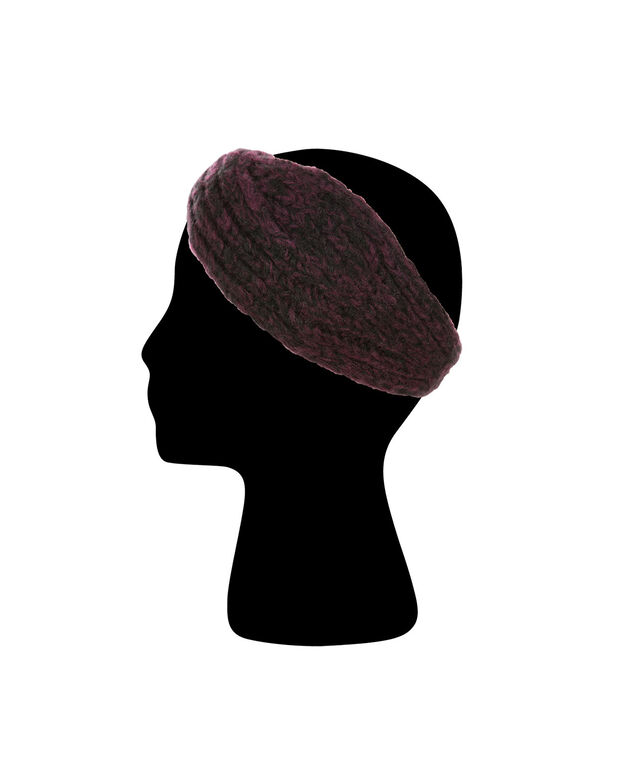 Twist Front Headband, Wineberry, hi-res