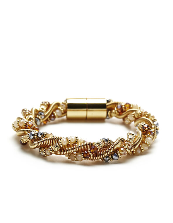 Neutral Gold Twist Bracelet, Gold/Neutral, hi-res