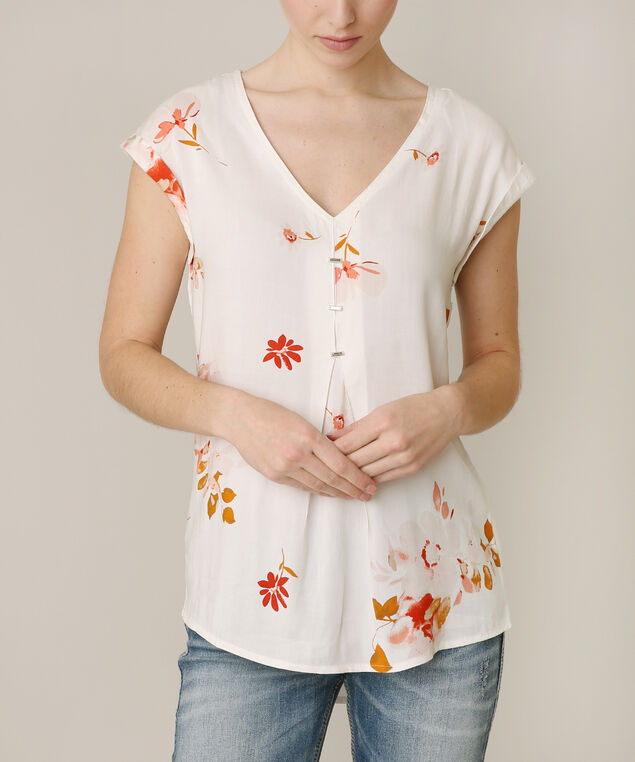 criss cross back top, WHITE PRINT, hi-res