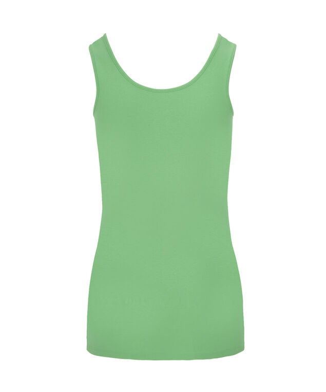 Scoop Neck Built-Up Cami, Leaf Green, hi-res