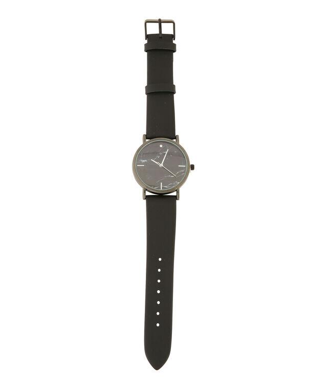 black marble print watch, BLACK MARBLE, hi-res