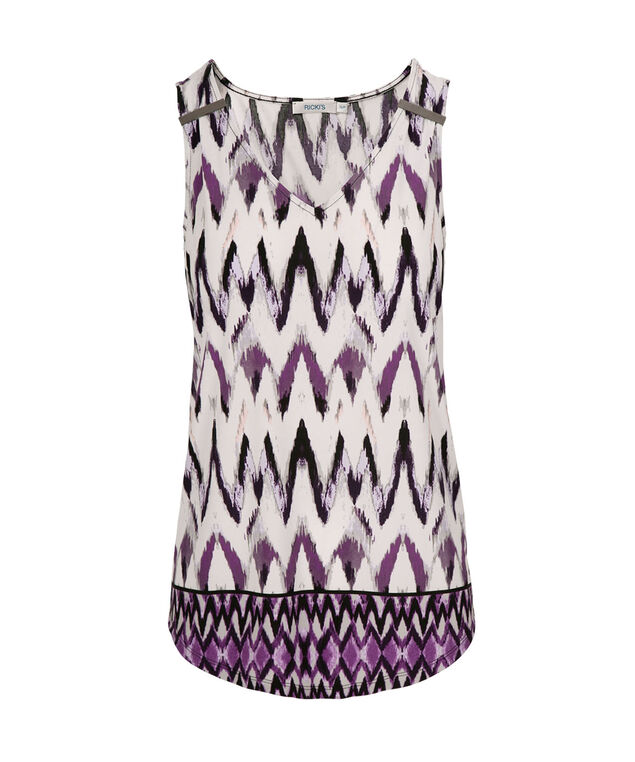 Knit Hardware Tank, Purple Pattern, hi-res