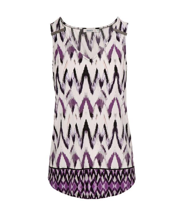 Knit Hardware Tank, Purple Pattern, hi-res