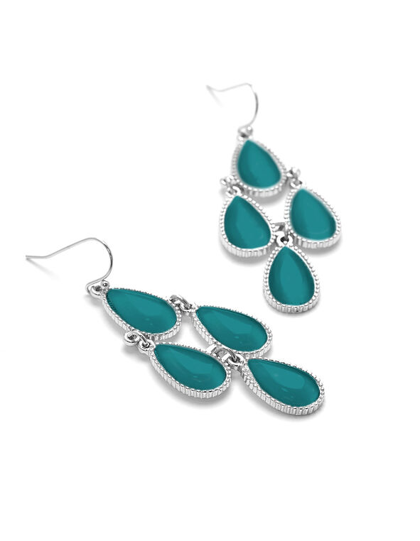 Turquoise Chandelier Earring, Silver/Turquoise, hi-res