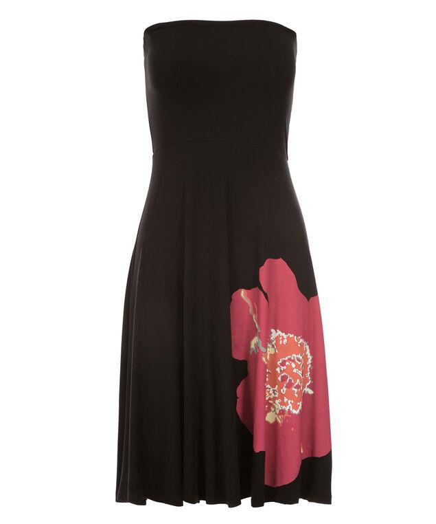 Bandeau Convertible Skirt Dress, Black/Pink, hi-res