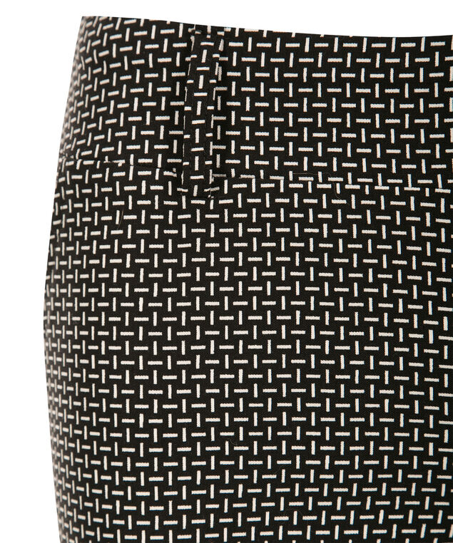 Microtwill Slim Leg, Black/White, hi-res