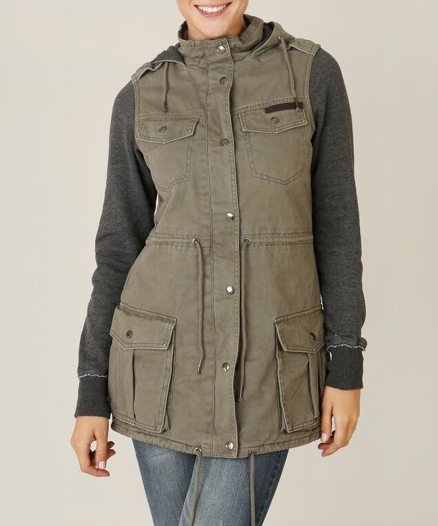 cargo jacket - wb, OLIVE/GREY, hi-res