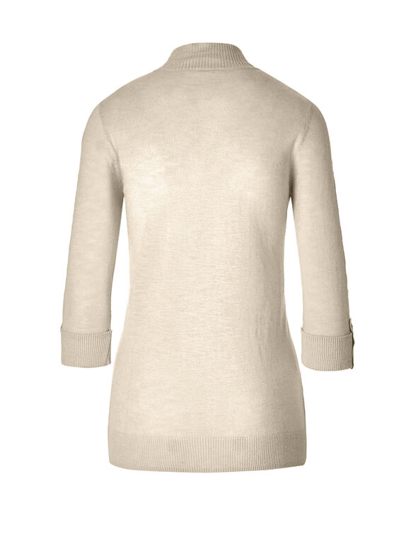 Stone Lightweight Topper Sweater, Stone, hi-res