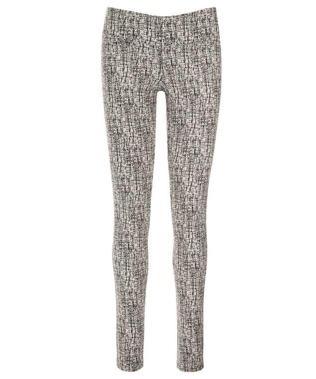Microtwill Super Slim Leg, Black/White, hi-res