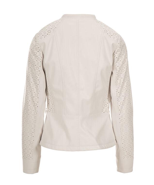Floral Cut Zip Front Jacket, Milkshake, hi-res