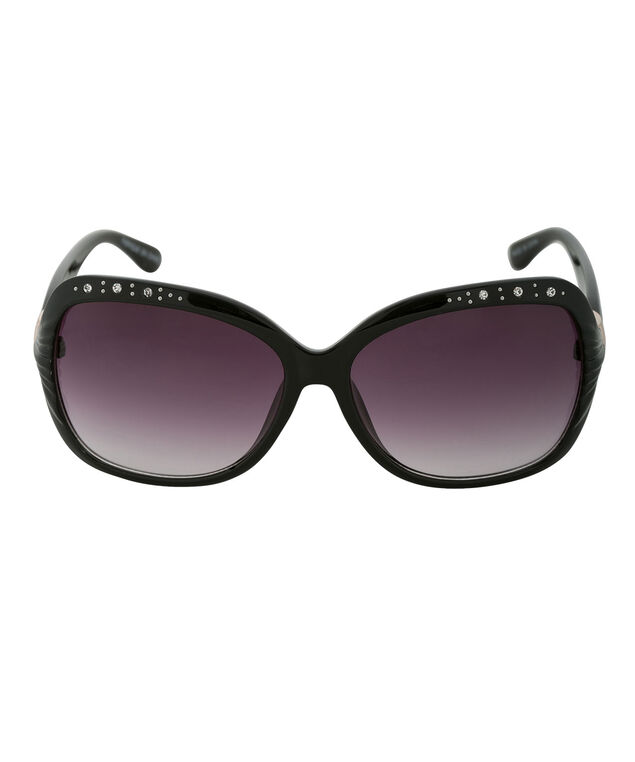 Bling Detail Sunglasses, Black, hi-res