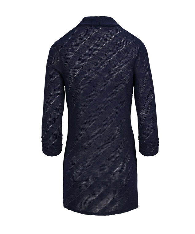 Chevron Shawl Collar Cover Up, Deep Sapphire, hi-res