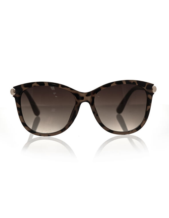 Tortoise Wayfarer Frame Sunglasses, Neutral, hi-res