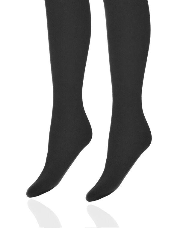Black Plush Tights, Black, hi-res