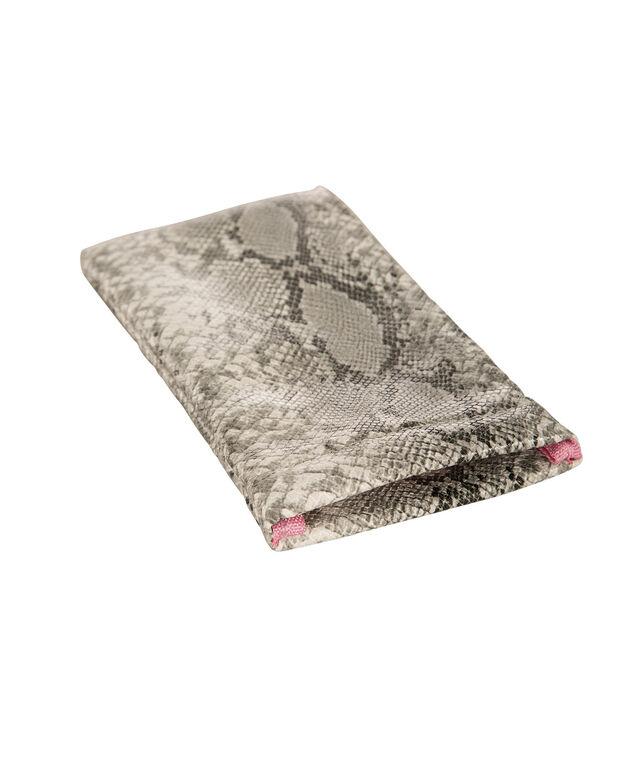 Snake Print Sunglass Case, Grey/White, hi-res