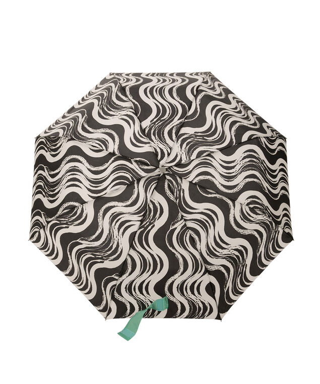 Squiggle Print Umbrella, White/Black, hi-res