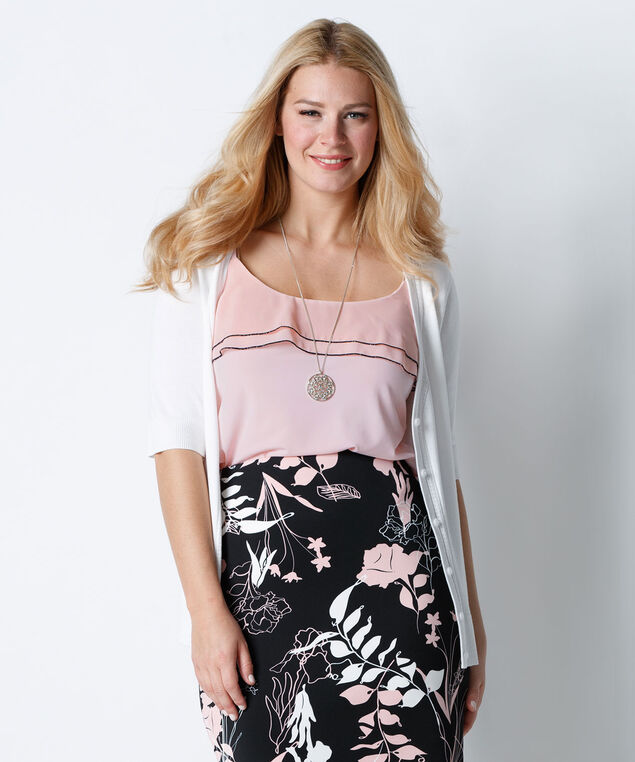 Ruffle Tank, Misty Pink, hi-res