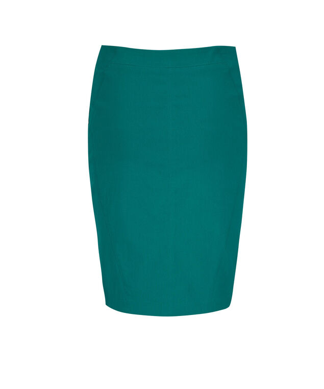 Pull On Pencil Skirt, Tropical Teal, hi-res