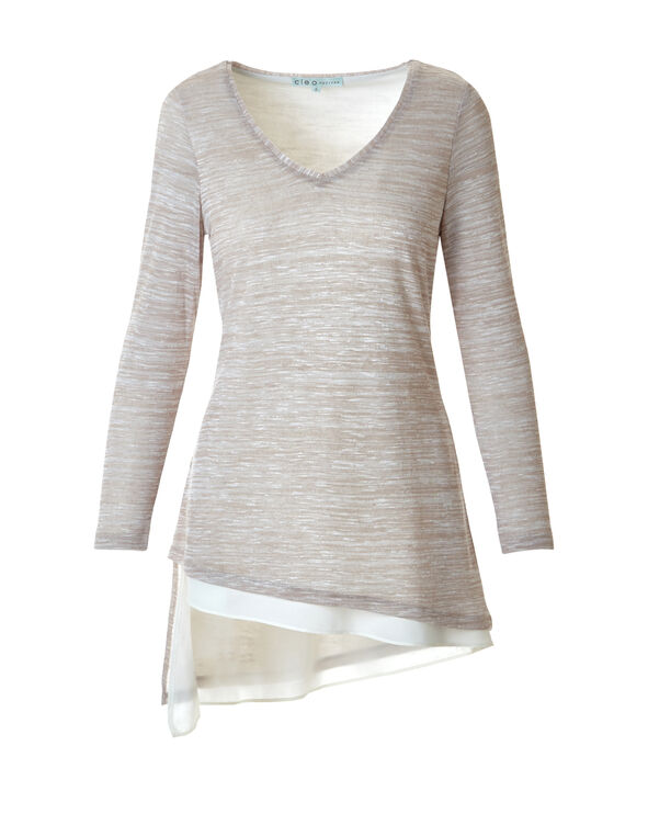 Neutral Space Dye Tunic, Neutral, hi-res