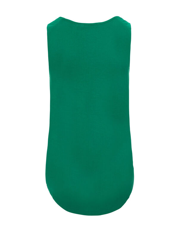 Ruffle Front Tank, Sea Green, hi-res