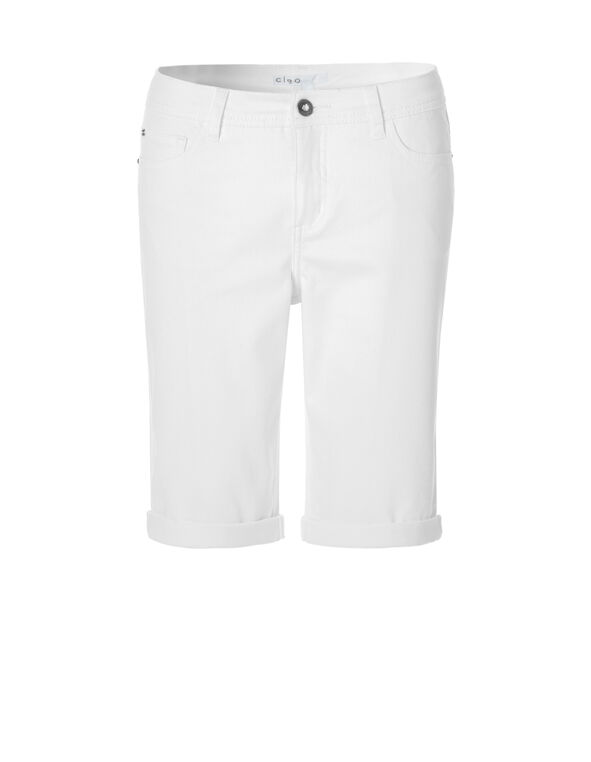 White Every Body Denim Short, White, hi-res