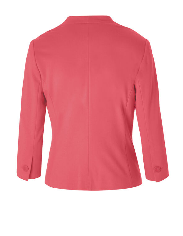 Coral 3/4 Sleeve Blazer, Coral, hi-res