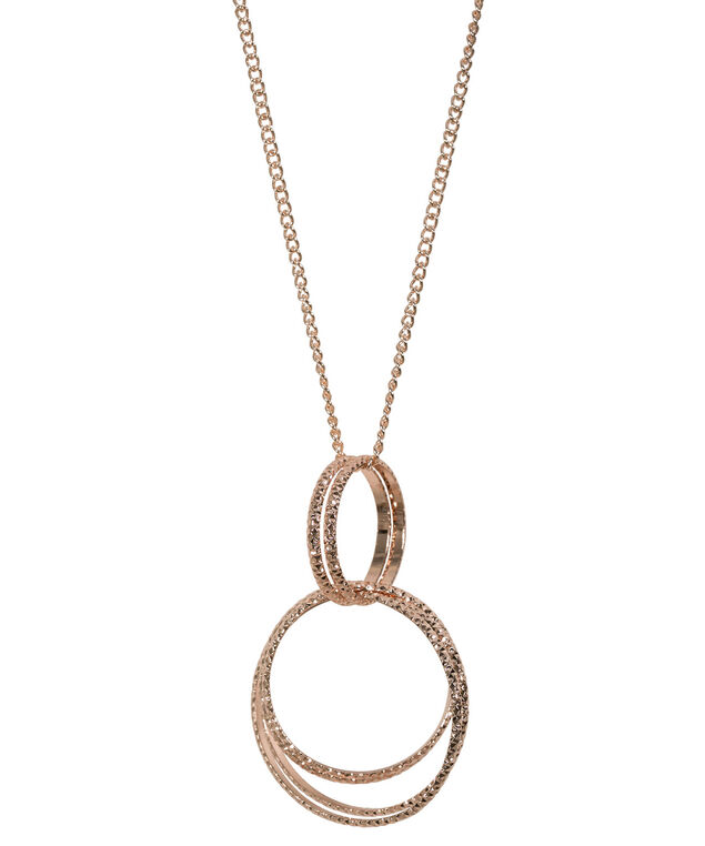 O-Ring Pendant Necklace, Rose Gold, hi-res