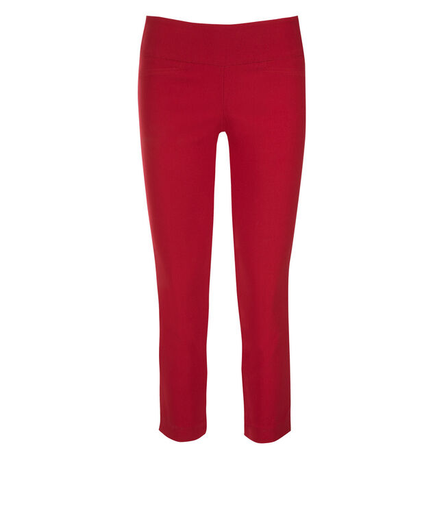 Microtwill Crop Super Slim Leg, Poppy Red, hi-res