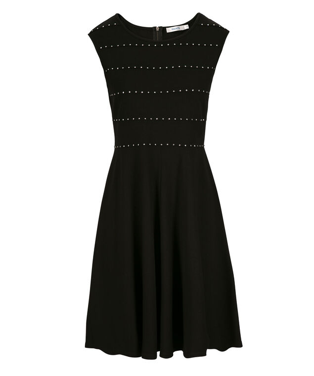 Jewel Ponte Dress, Black, hi-res