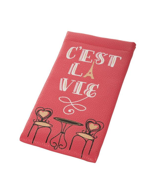 Cest La Vie Sunglass Case, Pink, hi-res