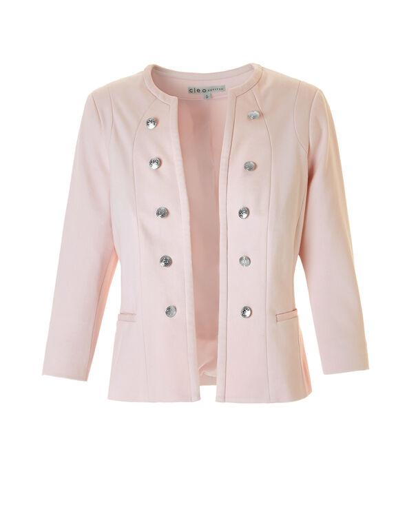 Soft Pink Military Blazer, Soft Pink, hi-res