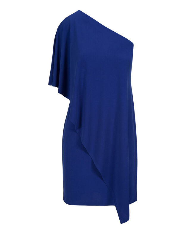 Off The Shoulder Ruffle Dress, Blue, hi-res